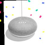 Google Home Miniが全員もらえる+話題の新サービスが試せるキャンペーンが開催されています。
